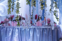 Scenery of the banquet hall at a wedding ceremony Stock Photography