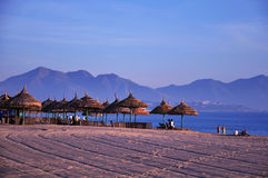 Scenery on beach stock photo