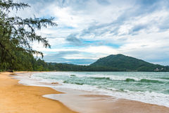 Scenery of beach and coast mountain at Phuket island in Thailand Stock Images