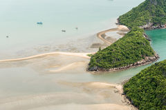 Scenery of beach and island from Khao Lom Muak viewpoint, Prachuap khiri khan, Thailand.  Stock Images