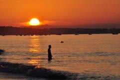 Scenery on beach,Vietnam Stock Image