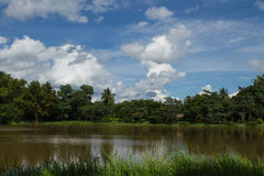 The scenery is beautiful. In the countryside of Thailand Royalty Free Stock Images
