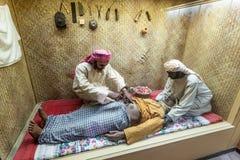 Scenery of a bedouin hospital Stock Photo