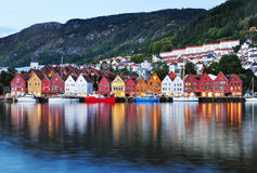 Scenery in Bergen, Norway Royalty Free Stock Photography