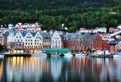 Scenery in Bergen, Norway stock images