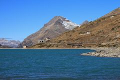 Scenery on the Bernina mountain pass Stock Images