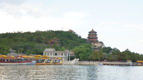 Scenery categories: Beijing Summer Palace, Tower of Buddhist Incense Royalty Free Stock Photos