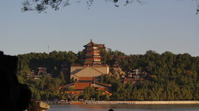 Scenery categories: Beijing Summer Palace, Tower of Buddhist Incense Royalty Free Stock Images