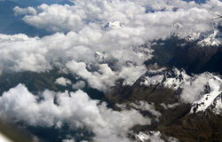 Scenery categories: Judging from the plane of the snowcapped mountains of Tibet Royalty Free Stock Photos