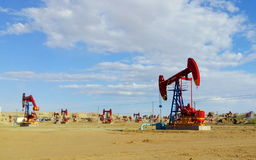 Scenery categories: Karamay Oilfield Royalty Free Stock Images