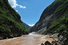 Scenery categories: Lijiang, Yunnan Tiger Leaping Gorge Stock Photos