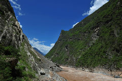 Scenery categories: Lijiang, Yunnan Tiger Leaping Gorge Stock Images