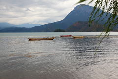 Scenery categories: Lugu Lake Royalty Free Stock Photography