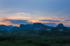 Scenery categories: Mount Wuyi tea garden scenery Stock Photo