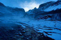 Scenery category: North Changbai Mountain scenic hot springs Winter Landscape Royalty Free Stock Image