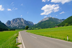 The Scenery of the Central Austrian Alps Royalty Free Stock Photos