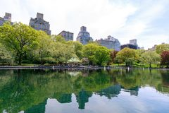 Scenery of Central Park at spring in NYC Stock Images