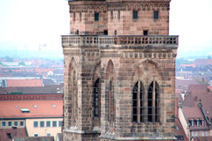 Scenery of church in nuremberg Royalty Free Stock Images