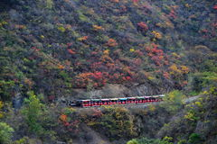 Scenery class: Ssangyong Gorge Autumn Royalty Free Stock Image