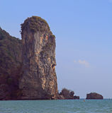 Scenery cliff nearly Ao Nang in Krabi province stock images