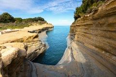 Scenery Coastline of Corfu Island Royalty Free Stock Image