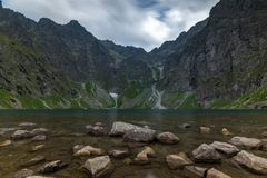 Scenery of Czarnyw Staw in the Tatra Mountains. The scenery of and around lake Czarnyw staw which is located next to Morskie Oko stock images