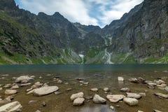 Scenery of Czarnyw Staw in the Tatra Mountains. The scenery of and around lake Czarnyw staw which is located next to Morskie Oko stock photos