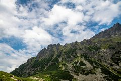 Scenery of Czarnyw Staw in the Tatra Mountains. The scenery of and around lake Czarnyw staw which is located next to Morskie Oko royalty free stock photography