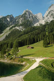 Scenery Dachstein at Lake Gosau Royalty Free Stock Image