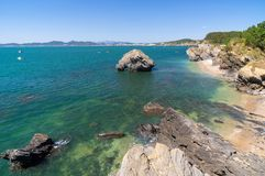 The scenery of Dalian Golden Stone National Geopark and Coastal Road in late Summer royalty free stock photo