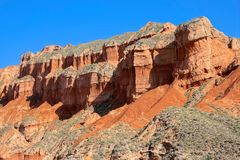 Danxia landform. The scenery of Danxia landform of Guide National Geopark in Qinghai, China royalty free stock images