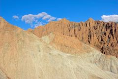 Danxia landform. The scenery of Danxia landform of Guide National Geopark in Qinghai, China stock photography