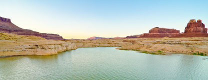 Scenery on the Dirty Devil River, Glen Canyon, UT stock photo