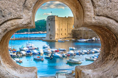 Scenery in Dubrovnik, town, Croatia. Royalty Free Stock Photo