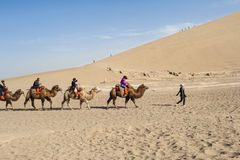 Scenery in Dunhuang Mingshashan park Royalty Free Stock Images