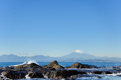 Scenery of the Enoshima Chigogafuti. Royalty Free Stock Image