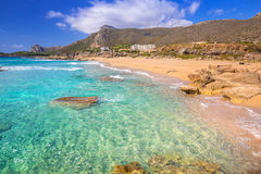 Scenery of Falassarna beach on Crete Stock Photo