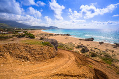Scenery of Falassarna beach on Crete Stock Image