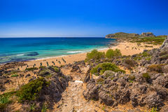 Scenery of Falassarna beach on Crete Stock Images