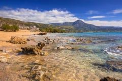 Scenery of Falassarna beach on Crete Stock Photography