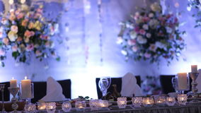 Scenery. Feathers, candles, flowers stock video