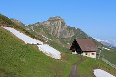 Scenery on the Flumserberg Royalty Free Stock Photo