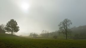 Scenery with fog and sunshine Royalty Free Stock Photography