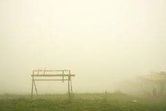 Scenery at foggy hill in Thailand Stock Photo