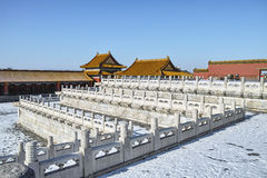 The scenery of Forbidden City in winter Royalty Free Stock Images