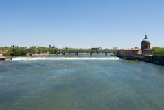 Scenery of Garonne river Royalty Free Stock Images