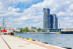 Scenery of Gdynia city at Baltic Sea Royalty Free Stock Images