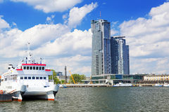 Scenery of Gdynia city at Baltic Sea Stock Photos