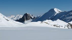 Scenery on the Glacier De Diablerets, peaks Stock Image
