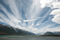Scenery of glenorchy Stock Image